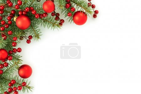 Photo for Christmas border isolated on white background - Royalty Free Image