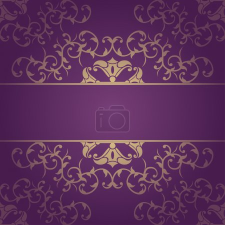 Purple vector baroque flowers background