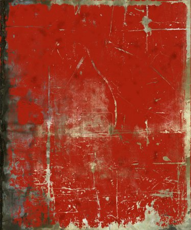 Photo for Grunge red painted scratched background - Royalty Free Image