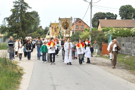 Religious procession at Corpus Christi Day.
