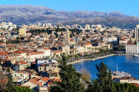 Panorama of city Split in Croatia