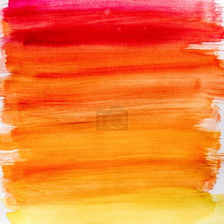 Photo for Gradient watercolor texture which resembles to fire or sunset. Gradation from orange to yellow. Very useful for backgrounds. - Royalty Free Image