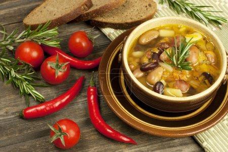 Beans vegetarian soup
