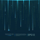 Abstract technology background Vector binary code