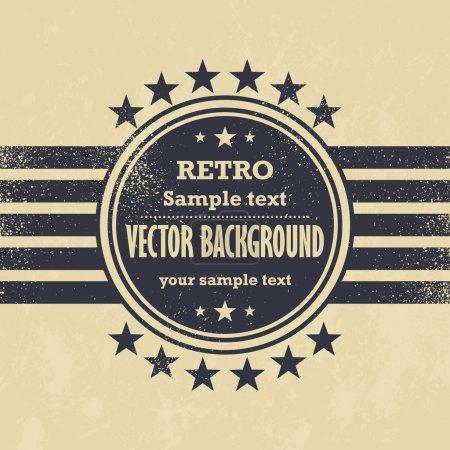 Ilustración de Viejo diseño del vector - retro etiqueta de fondo grunge - Imagen libre de derechos