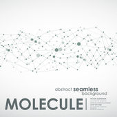 Abstract horizontal seamless molecule and communication backgroundVector illustration