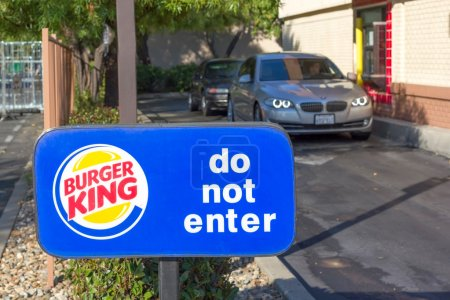 SACRAMENTO, USA - SEPTEMBER 13: Burger King drive through on Sep