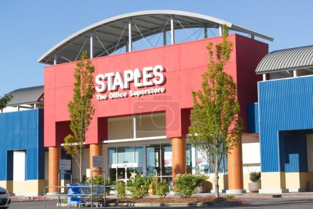SACRAMENTO, USA - SEPTEMBER 23: Staples store on September 23,