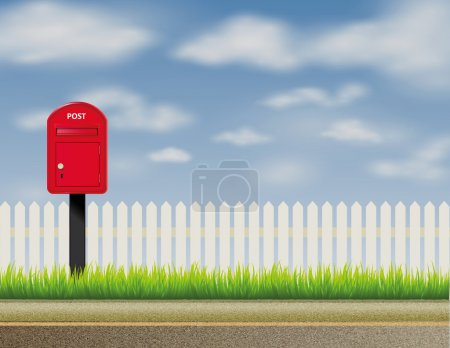 Design of abstract English, UK letter-box, mailbox, and postbox
