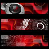 Abstract design of brake kit and slotter rotors