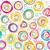 Seamless pattern with circles and dots on white background