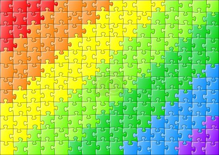 jigsaw puzzle in rainbow colors