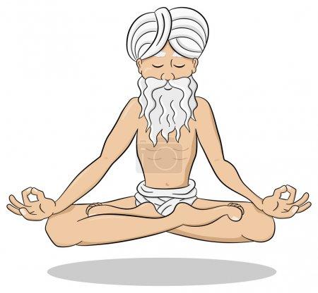 Floating meditating yogi