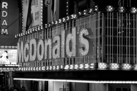 Famous food on Times Square, New York