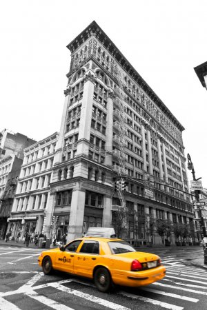 Photo pour Taxis sur soho rues, new york, usa - image libre de droit