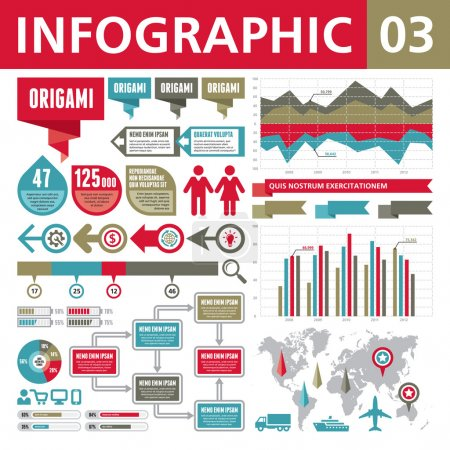 Photo for A set of conceptual elements to create your infographics. - Royalty Free Image