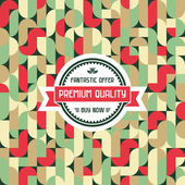 Vector geometric background & badge for design works