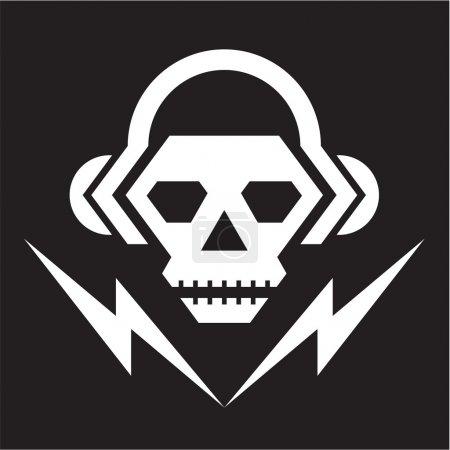 Skull Music Logo Sign 2