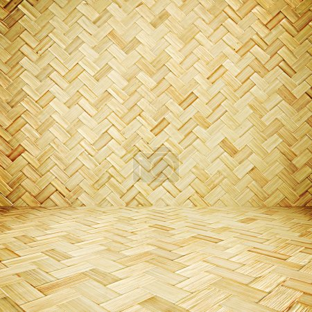 Wicker texture room as background
