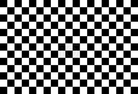 Simple black and white checkered abtract backgroun...