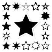 Star vector icon set