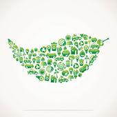 Green eco icon design leaf stock vector
