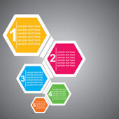 Colorful hexagon infographic