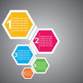 Barevné šestiúhelníku infographic