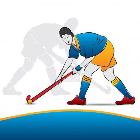 Women hockey player