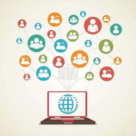 Social network of