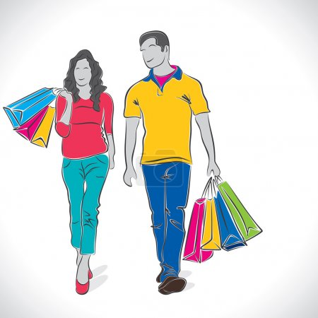Fashion shopping couple