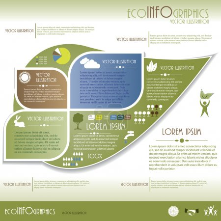 Modern Ecology infographics. Design template . Vector illustrati
