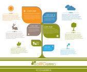 Modern ökológia üzleti tervezősablon. Vektoros illusztráció