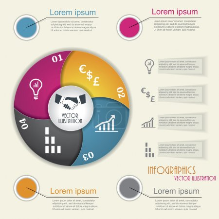 Modern infographic template, design for your business presentati