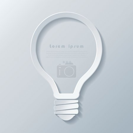 Illustration for Modern idea lightbulb icon banner template can be used for your business, web design, graphic, plan, concept idea , diagram, options, education. - Royalty Free Image