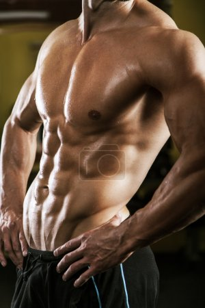 Photo for Close up of muscular male torso - Royalty Free Image
