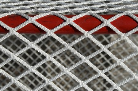 Hockey goal net, detail
