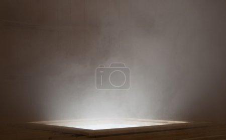 Mysterious light and smoke