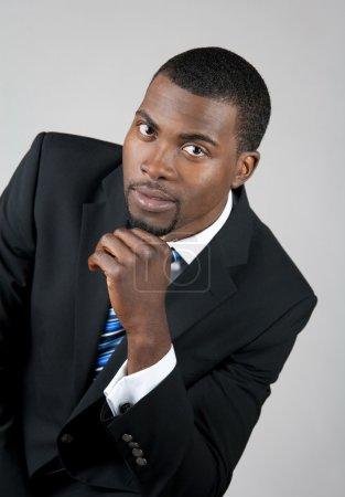 Photo pour Portrait d'un homme d'affaires américain smart. - image libre de droit