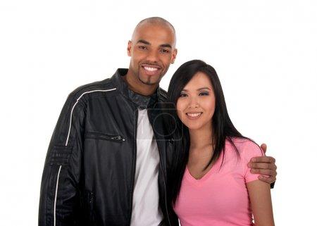 heureux couple interracial
