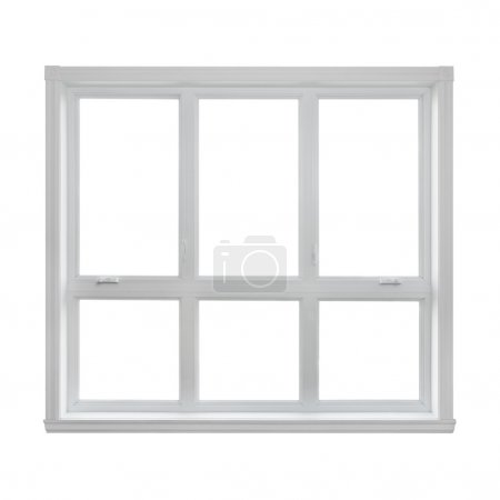Modern window isolated on white background