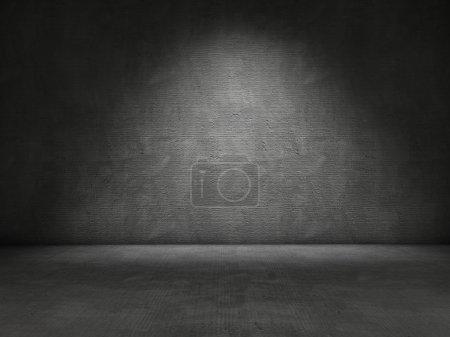 Photo pour Fond de mur et plancher béton - image libre de droit