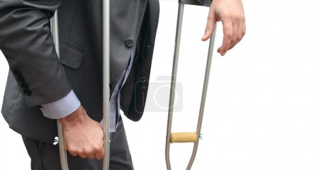 Business and crutches