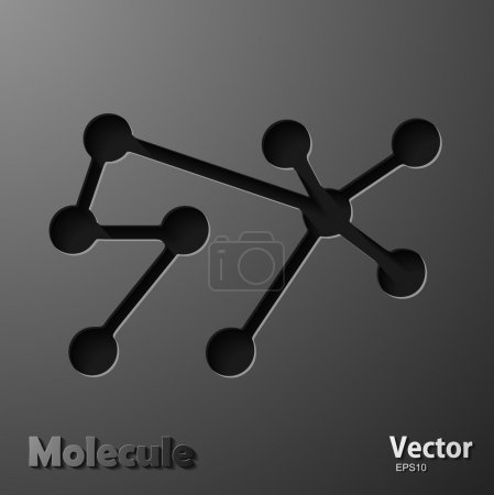 Illustration for Molecule on gray background - Royalty Free Image