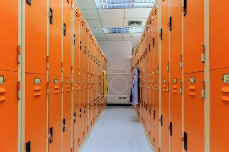 Locker Room in Sport Center.