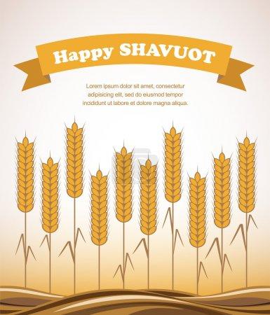 Gold wheat field , Shavuot card