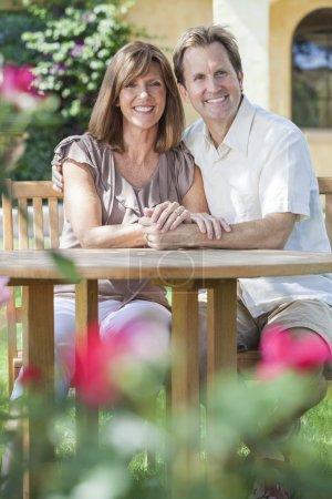 Man & Woman Romantic Couple In Garden