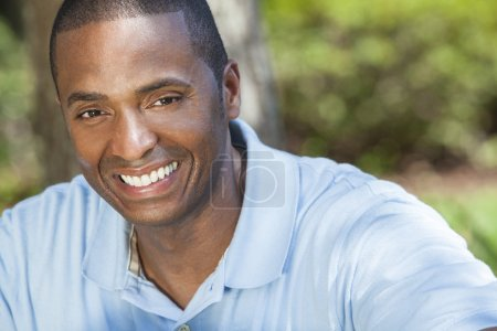 Happy African American Man Smiling