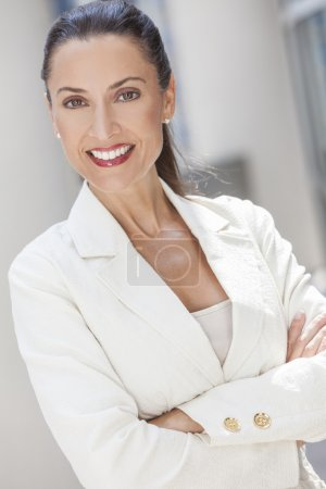 Portrait of Beautiful Woman or Businesswoman In Her Forties