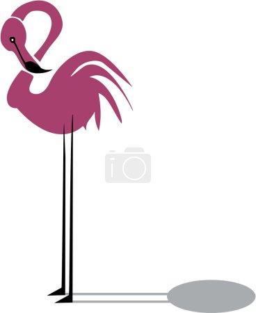 Funny pink flamingo